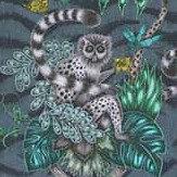 Clarke & Clarke Lemur Navy Fabric