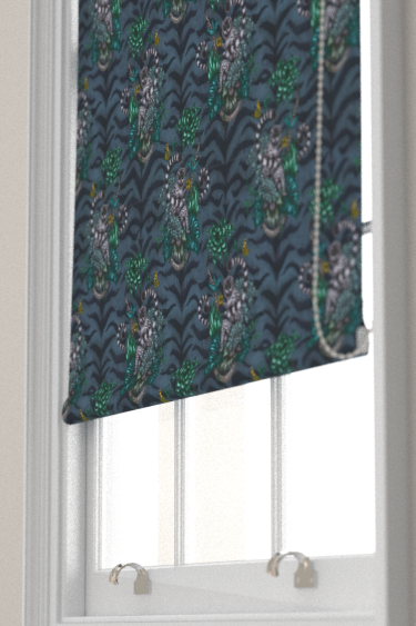 Emma J Shipley Lemur Navy Blind - Product code: F1112/03