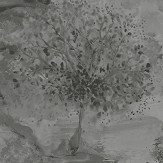 Albany Ascadia Tree Grey/ Silver Wallpaper