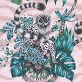 Clarke & Clarke Lemur Pink Fabric