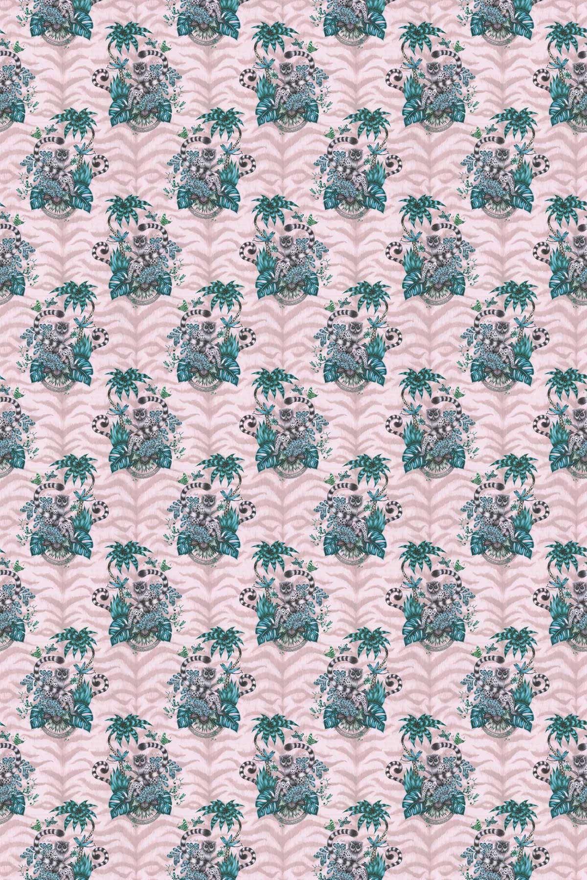 Emma J Shipley Lemur Pink Fabric - Product code: F1112/04