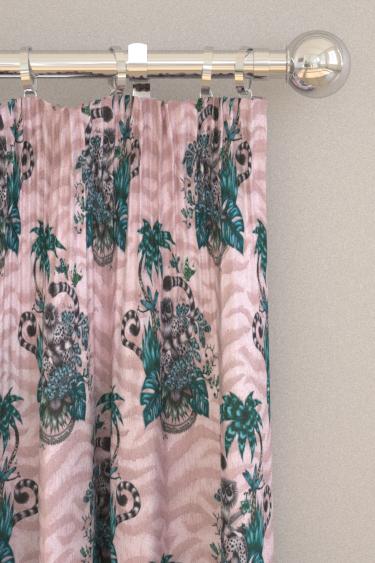 Emma J Shipley Lemur Pink Curtains - Product code: F1112/04