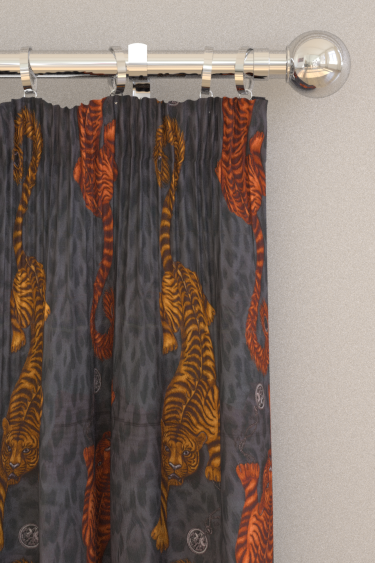 Emma J Shipley Tigris Flame Curtains - Product code: F1114/01