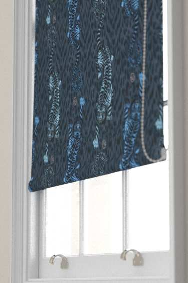 Emma J Shipley Tigris Navy Blind - Product code: F1114/02