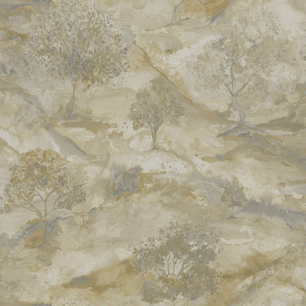 Albany Ascadia Tree Beige/ Gold Wallpaper main image