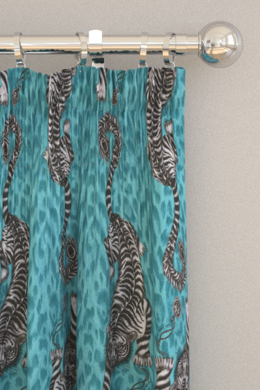 Emma J Shipley Tigris Teal Curtains - Product code: F1114/04