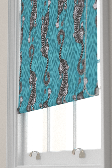 Emma J Shipley Tigris Teal Blind - Product code: F1114/04