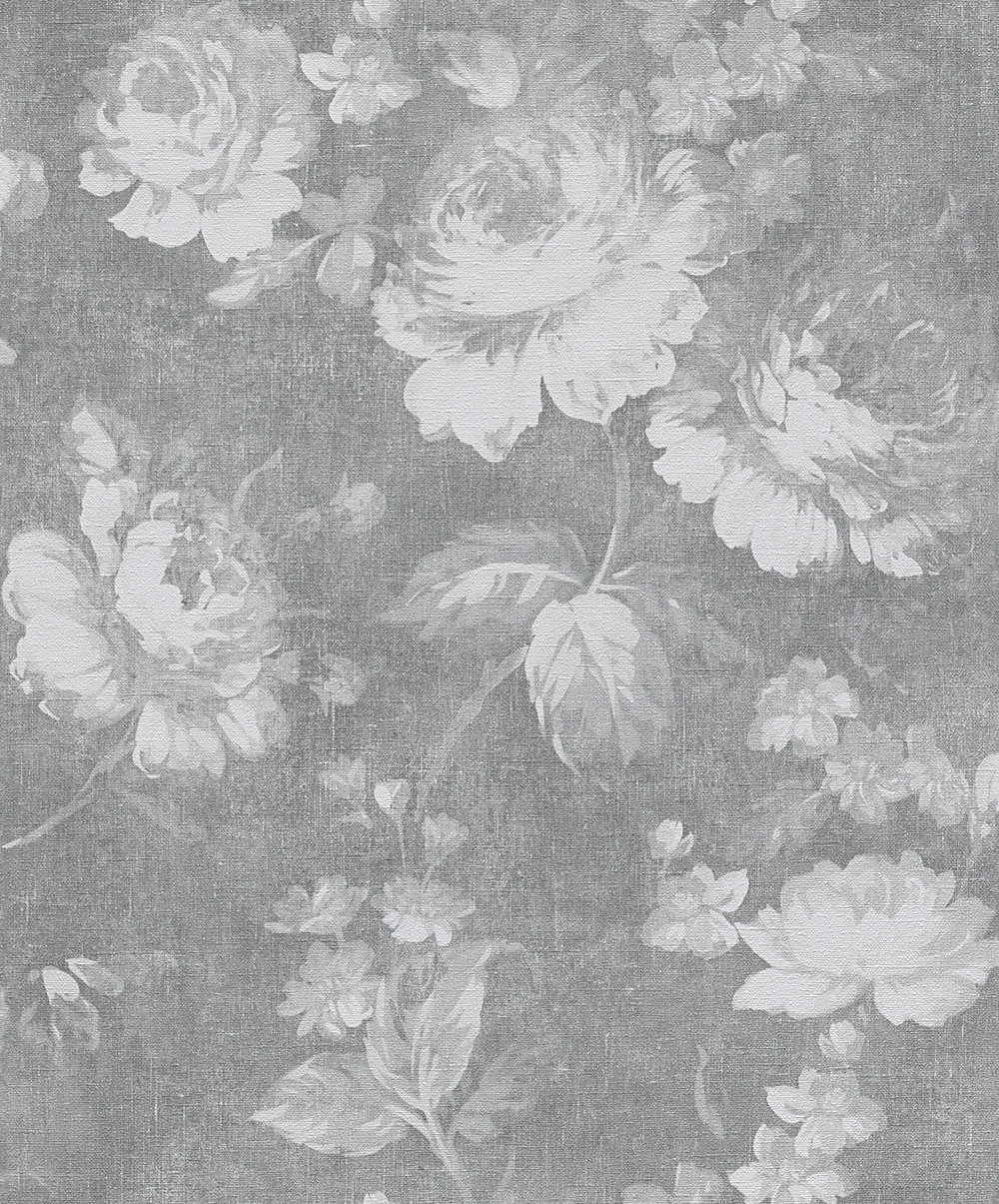 Albany Dusky Floral Grey Wallpaper main image