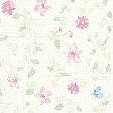Albany Mini Floral Pink / Blue Wallpaper