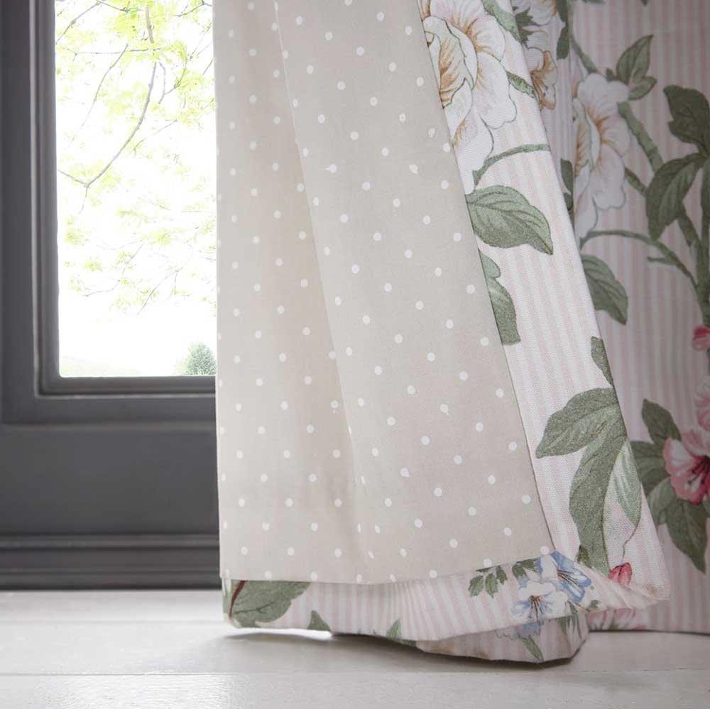 Oasis Bailey Eyelet Curtains Blush Ready Made Curtains - Product code: DA220231035