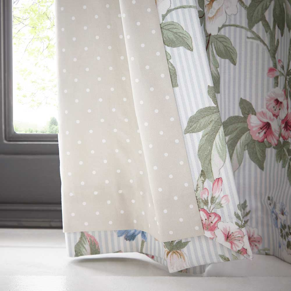 Oasis Bailey Eyelet Curtains Mineral Blue Ready Made Curtains - Product code: DA220231165