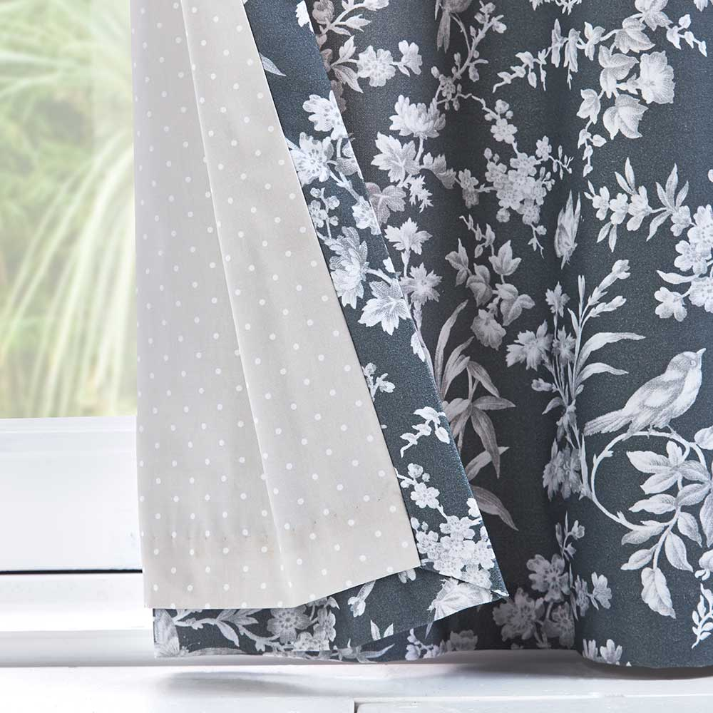 Oasis Amelia Eyelet Curtains Charcoal Ready Made Curtains - Product code: DA220231075
