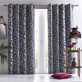 Oasis Amelia Eyelet Curtains Charcoal Ready Made Curtains