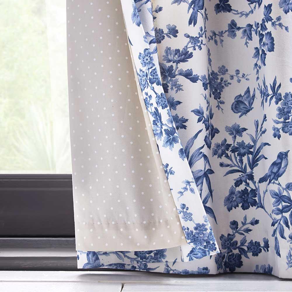 Oasis Amelia Eyelet Curtains Indigo Ready Made Curtains - Product code: DA220231145