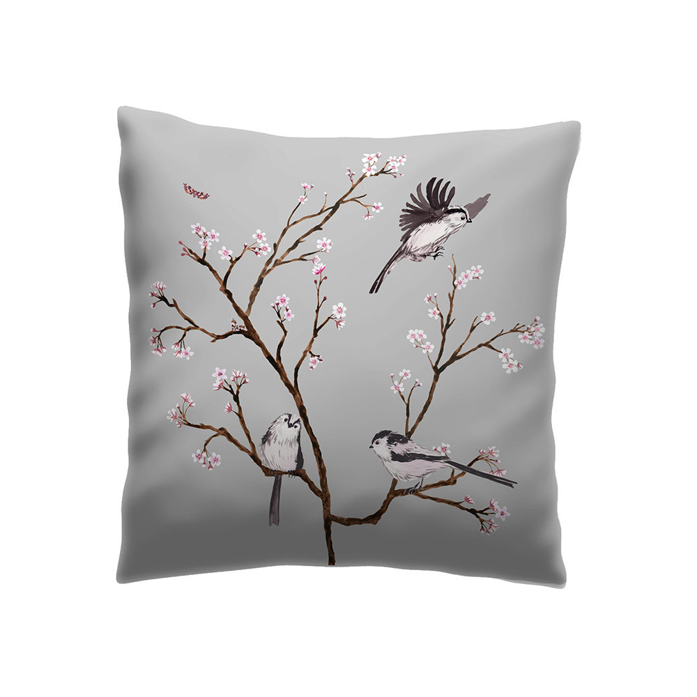 Petronella Hall Blossom Grey Cushion - Product code: B-CG