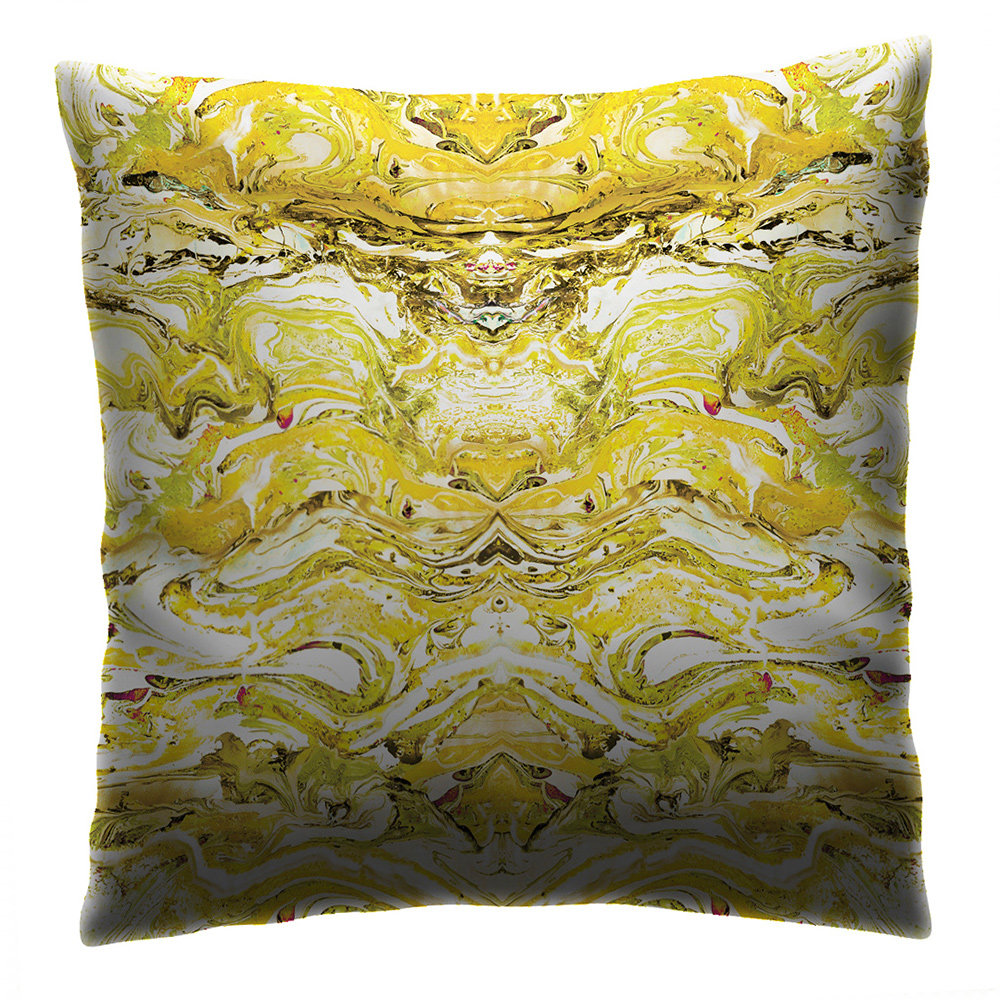 Petronella Hall Marbled Citrus Cushion - Product code: MAR-CCIT