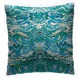 Petronella Hall Marbled Peacock Cushion - Product code: MAR-CPEA