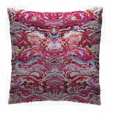 Petronella Hall Marbled Ruby Cushion