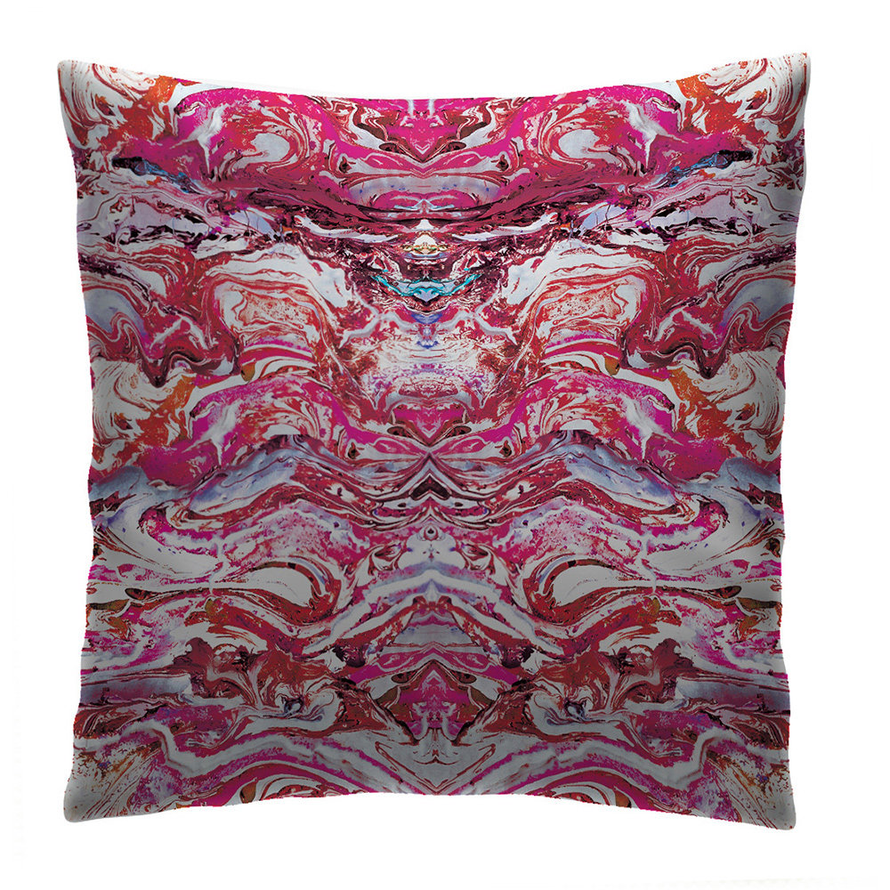 Petronella Hall Marbled Ruby Cushion - Product code: MAR-CRUB