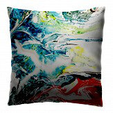 Petronella Hall Orbit Blue and Red Cushion