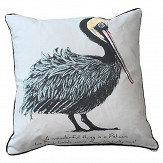 Petronella Hall Pelican Ditty Grey Cushion
