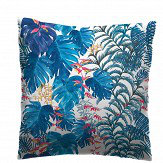 Petronella Hall Tropical Denim Cushion