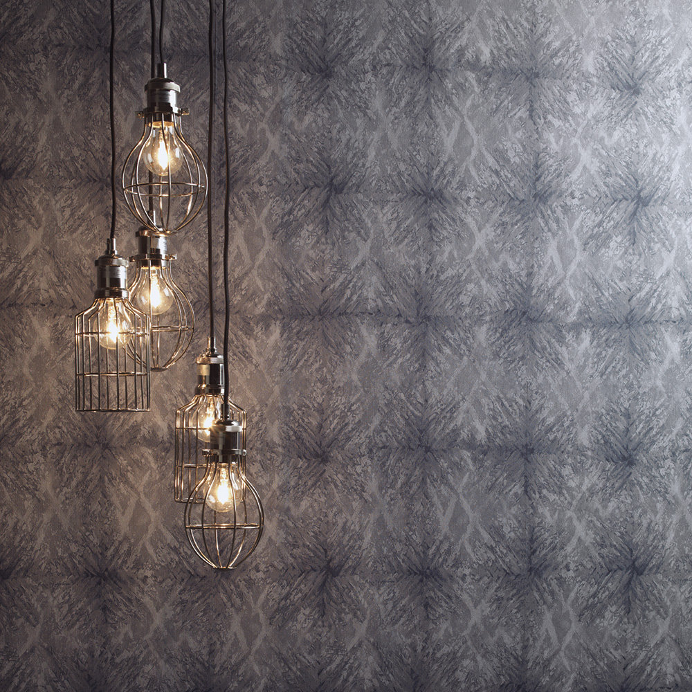 Moonstone Wallpaper - Charcoal - by Albany