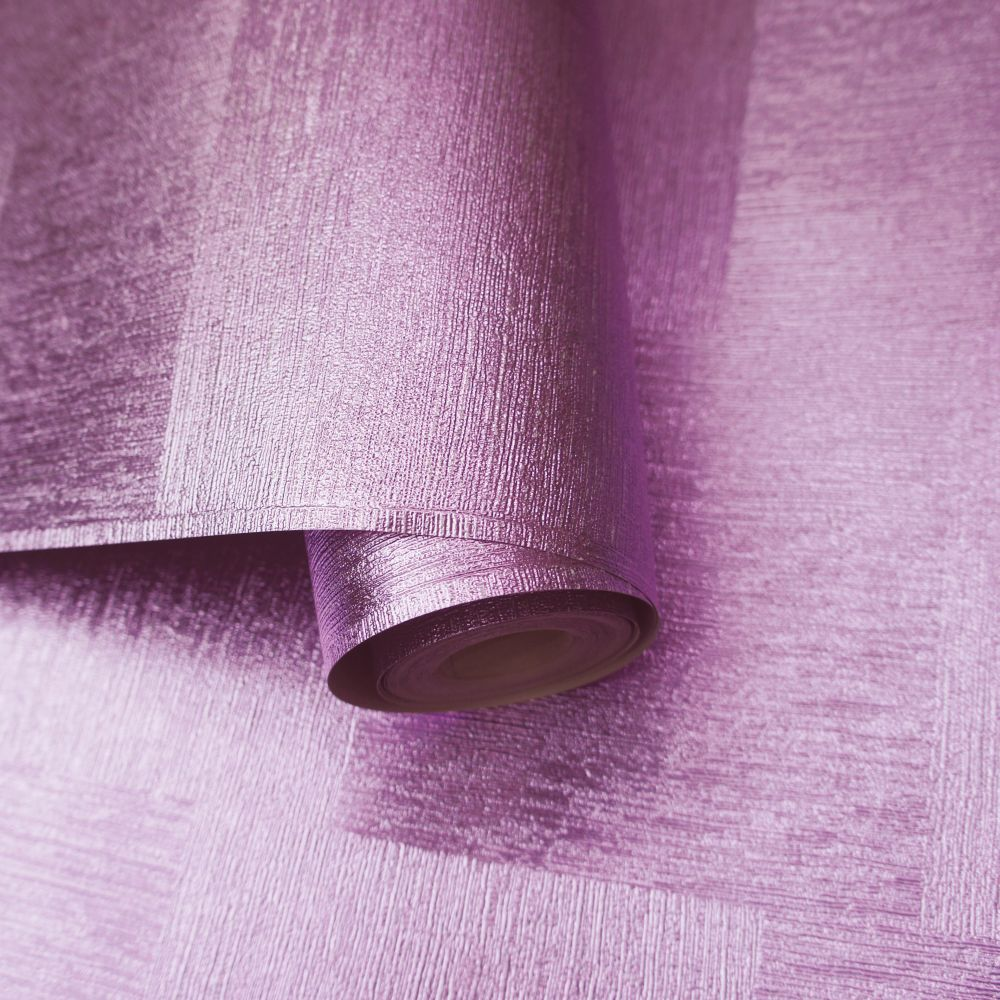 Indium Wallpaper - Lilac Foil - by Albany