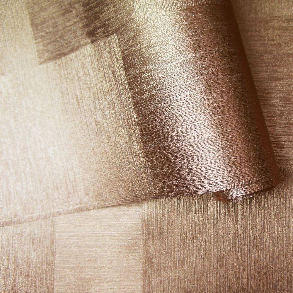 Indium Wallpaper - Copper Foil - by Albany