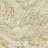 Albany Azurite Beige/ Gold Wallpaper