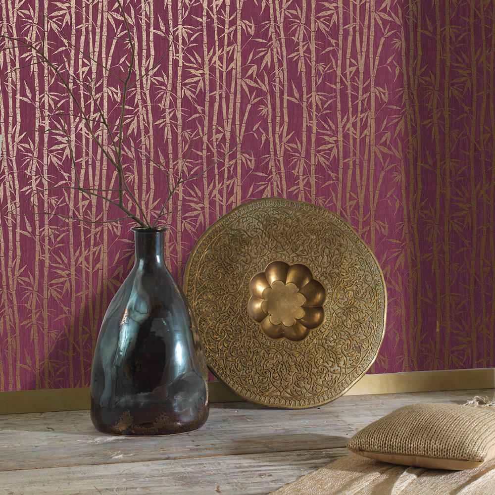 Albany Nandina Red/ Gold Wallpaper - Product code: 90280