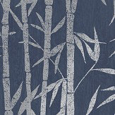 Albany Nandina Navy/ Silver Wallpaper - Product code: 90281