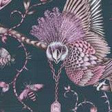 Clarke & Clarke Audubon Velvet Pink Fabric