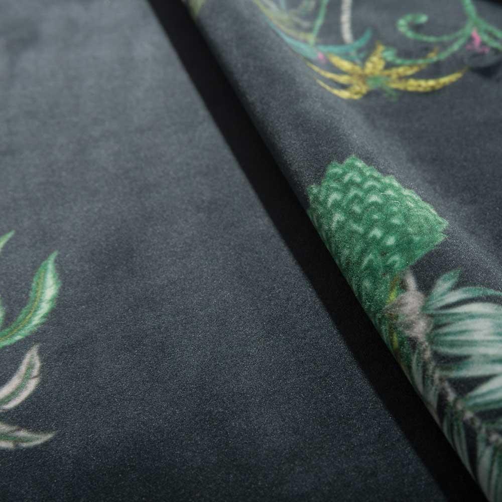 Jungle Palms Velvet Fabric - Navy - by Emma J Shipley