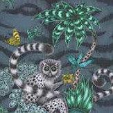 Clarke & Clarke Lemur Velvet Navy Fabric