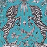 Clarke & Clarke Kruger Velvet Teal Fabric - Product code: F1210/01