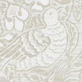 Morris Pure Dove and Rose White Clover Wallpaper