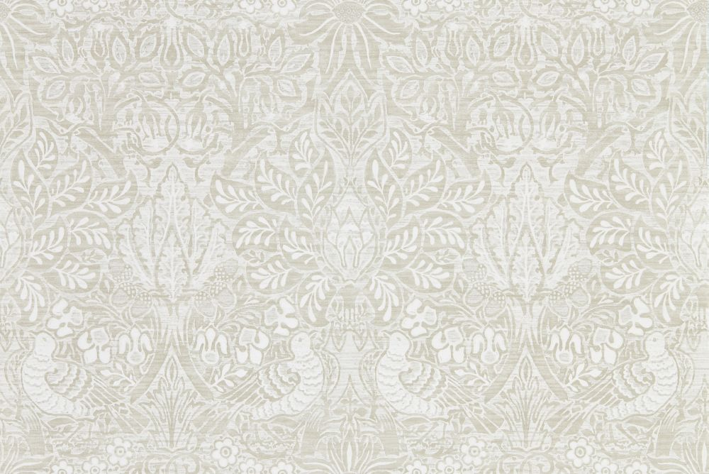 Morris Pure Dove and Rose White Clover Wallpaper main image