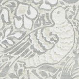 Morris Pure Dove and Rose Cloud Grey Wallpaper