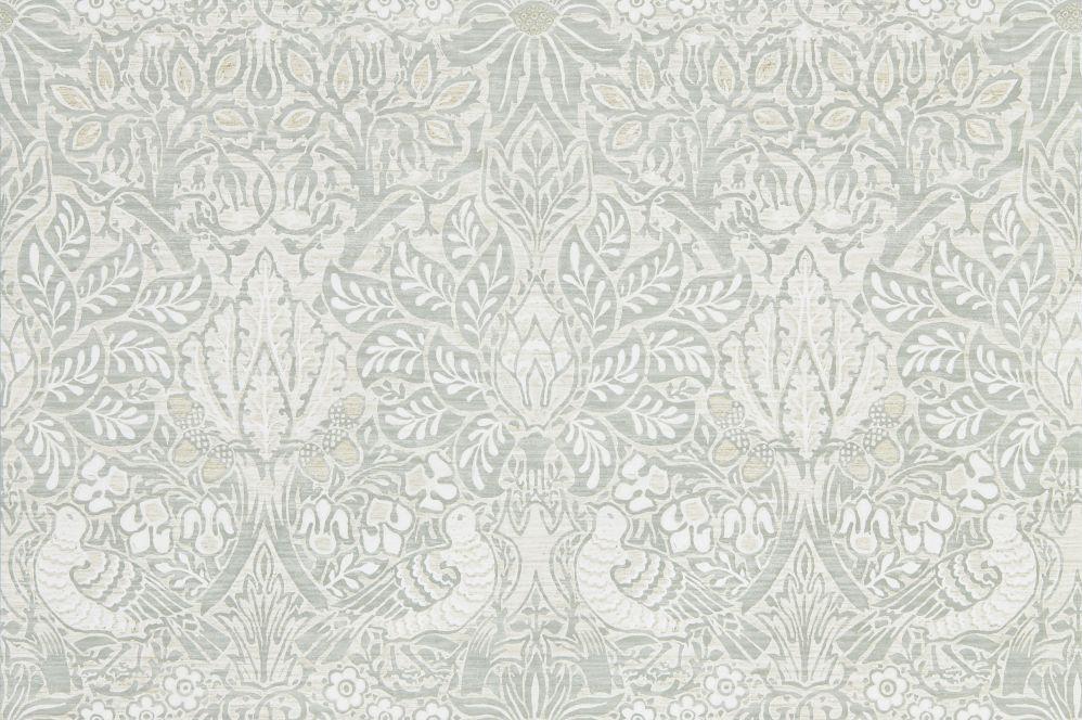 Morris Pure Dove and Rose Grey Blue Wallpaper main image