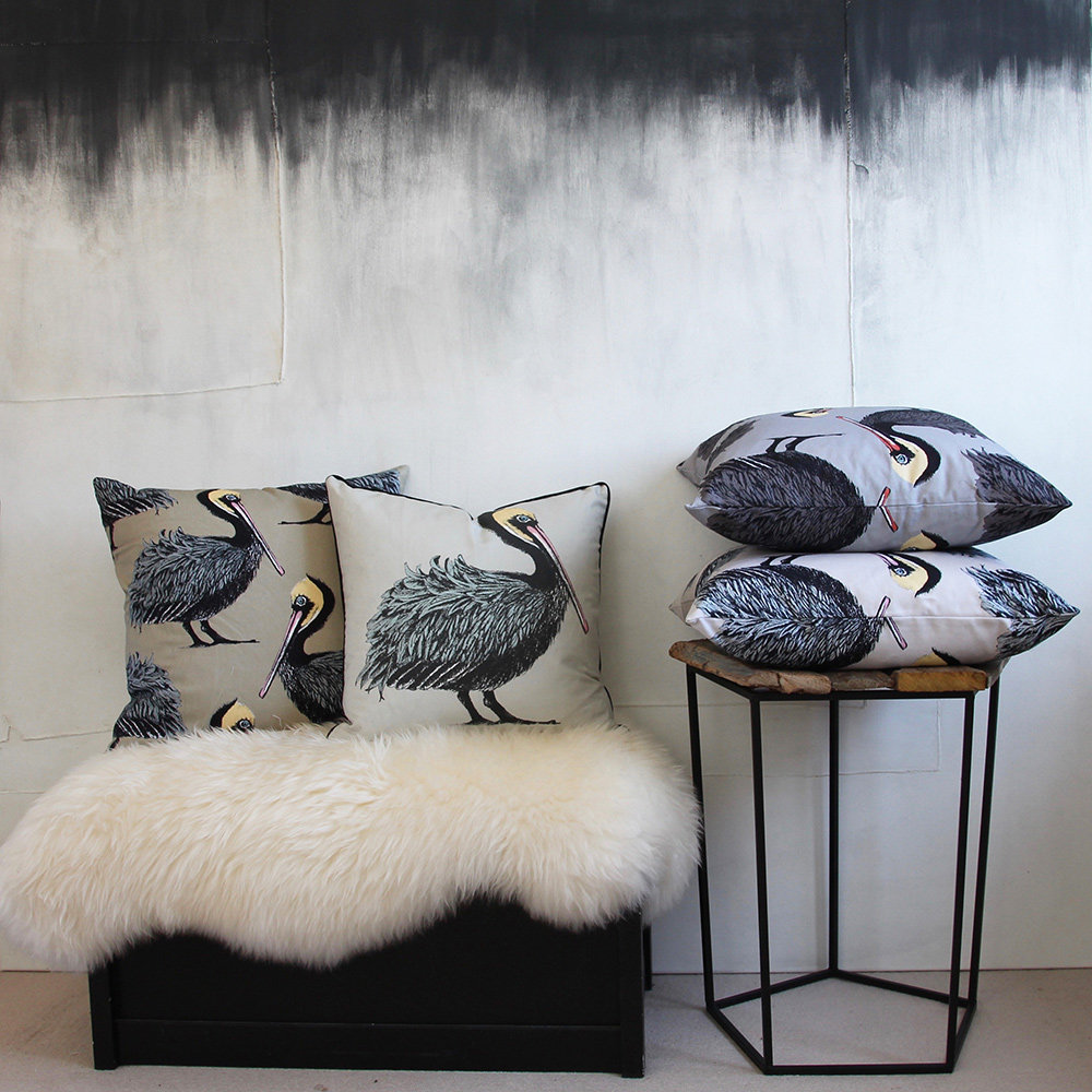 Petronella Hall Pelican Oyster Cushion - Product code: P-CO