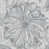 Morris Pure Honeysuckle and Tulip Cloud Grey Wallpaper - Product code: 216524