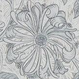 Morris Pure Honeysuckle and Tulip Cloud Grey Wallpaper
