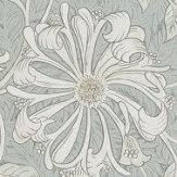 Morris Pure Honeysuckle and Tulip Grey Blue Wallpaper - Product code: 216525