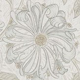 Morris Pure Honeysuckle and Tulip Linen Wallpaper - Product code: 216526