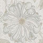 Morris Pure Honeysuckle and Tulip Linen Wallpaper