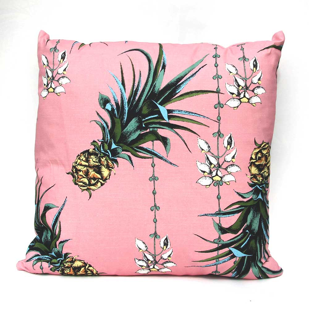 Petronella Hall Pineapples/Petals Pink Cushion - Product code: PIN-CFLO