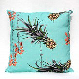 Petronella Hall Pineapples/Petals Turquoise Cushion