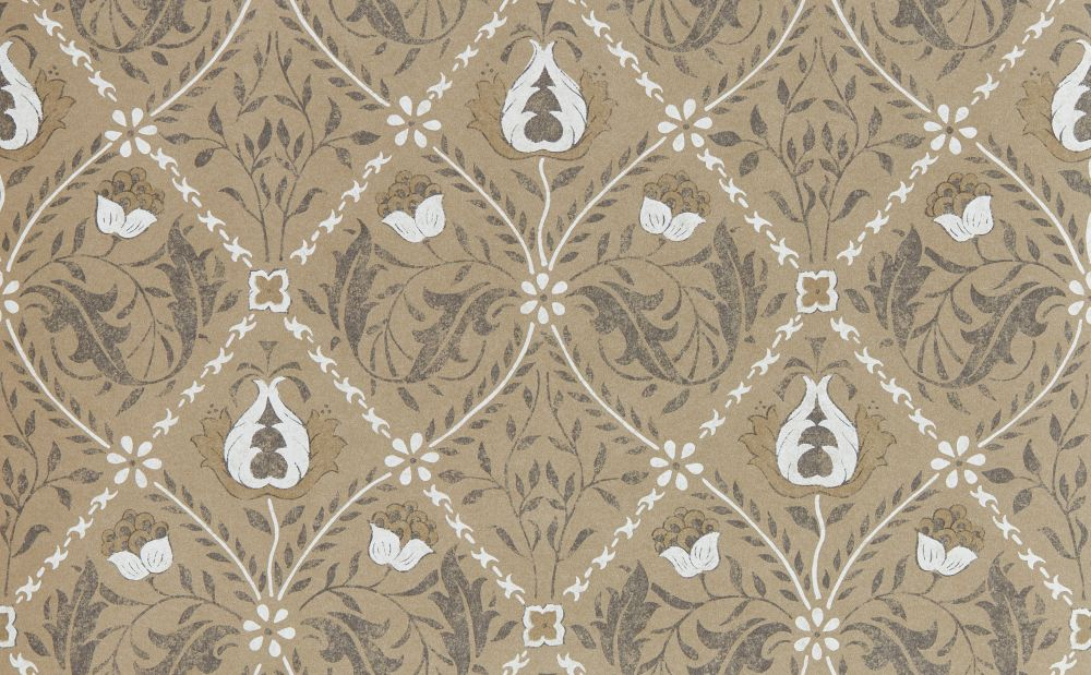 Morris Pure Trellis Gold Wallpaper main image
