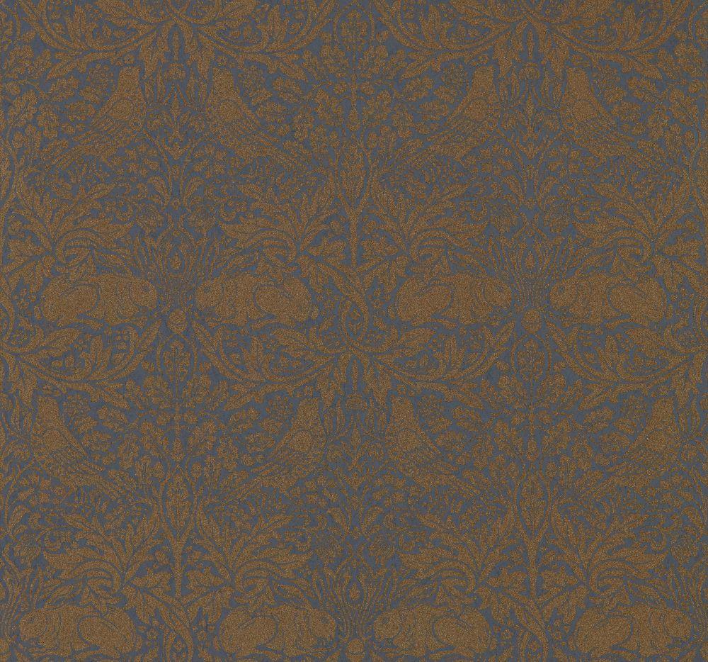 Morris Pure Brer Rabbit Ink / Gold Wallpaper main image
